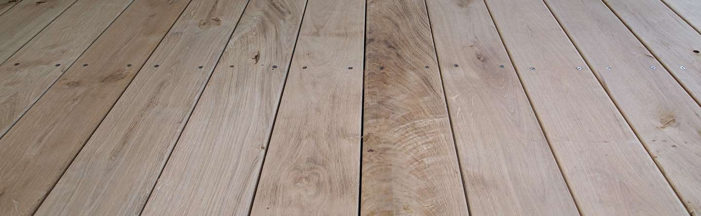 Oak wooden flooring Bath